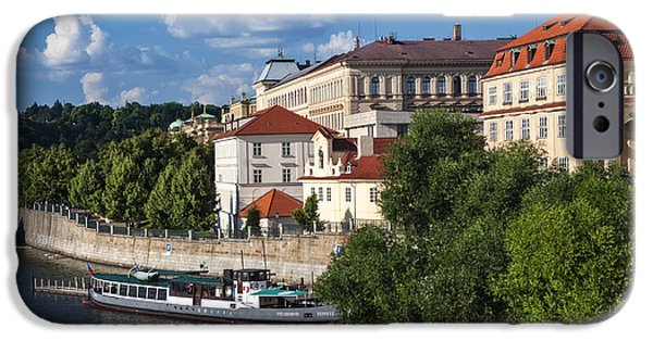 White House iPhone Cases - On the Shore of Vltava. Prague iPhone Case by Jenny Rainbow