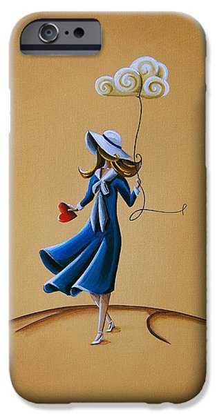Girl iPhone Cases - On The Street Where You Live iPhone Case by Cindy Thornton