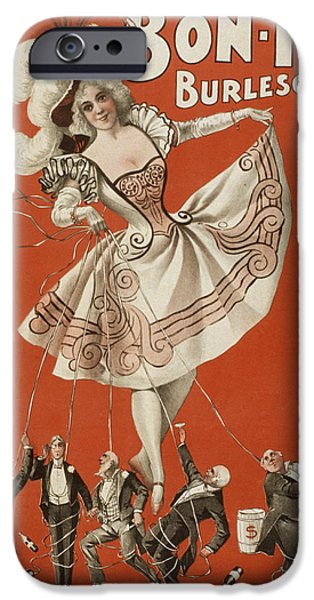 Ballet Drawings iPhone Cases - On The String iPhone Case by Aged Pixel