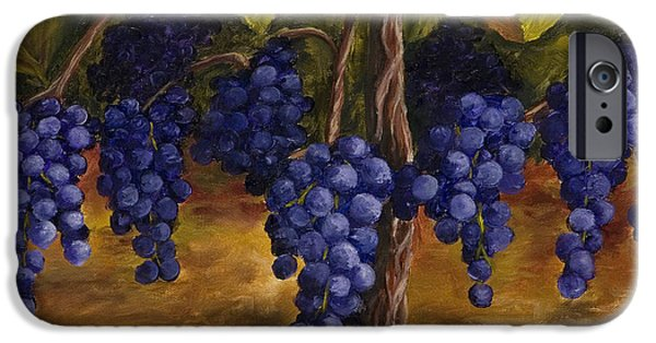 Vineyard Art iPhone Cases - On The Vine iPhone Case by Darice Machel McGuire