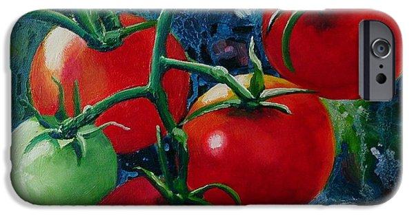 Fruit On The Vine Print iPhone Cases - On the Vine II iPhone Case by Lorraine Fenlon