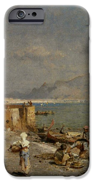 On The Waterfront at Palermo iPhone Case by Franz Richard Unterberger