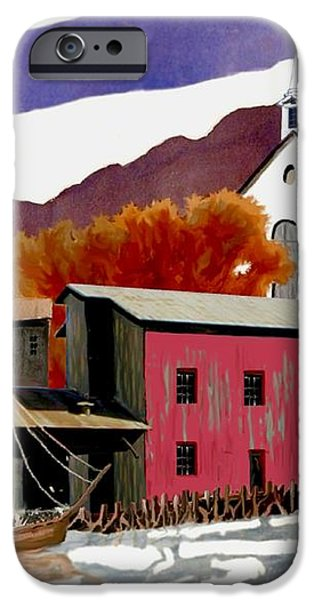 On the Waterfront iPhone Case by Ronald Chambers