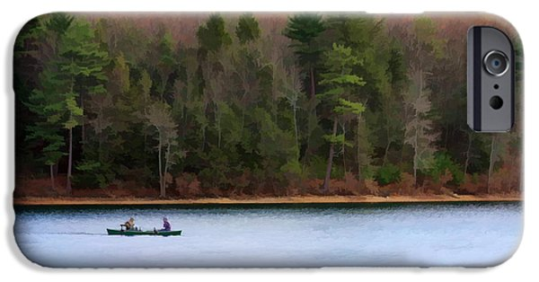 Walden Pond iPhone Cases - On Walden Pond iPhone Case by Jayne Carney