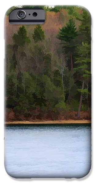 On Walden Pond iPhone Case by Jayne Carney