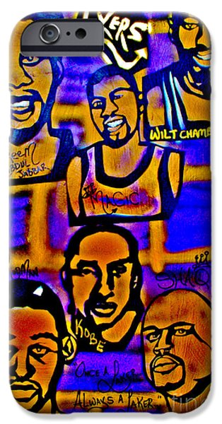 Magic Johnson iPhone Cases - Once A Laker... iPhone Case by Tony B Conscious