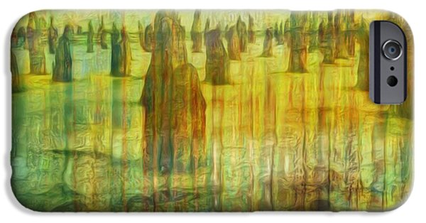 Painter Photo Digital Art iPhone Cases - Once There Was iPhone Case by Jack Zulli