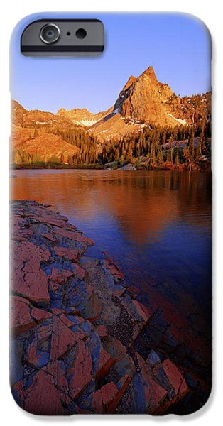 Glacier iPhone Cases - Once Upon a Rock iPhone Case by Chad Dutson
