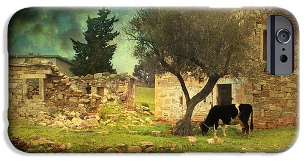 Old Barn Poster Photographs iPhone Cases - Once upon a time in Phokaia  iPhone Case by Taylan Soyturk