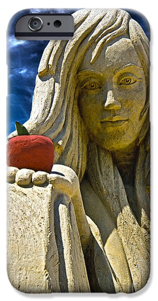 Sand Castles iPhone Cases - Once Upon A Time iPhone Case by Tom Gari Gallery-Three-Photography