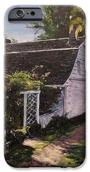 Onderdonk House  Garden iPhone Case by Victor SOTO