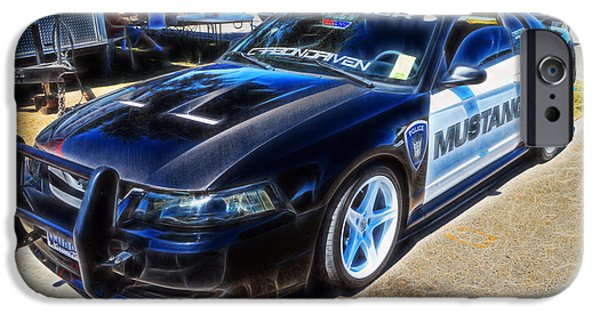 Police Cruiser iPhone Cases - One Bad Ass Squad Car iPhone Case by Tommy Anderson