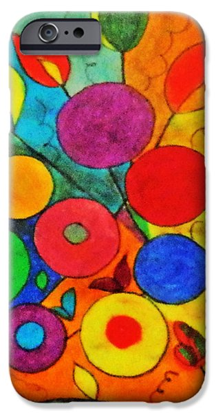 Vibrant Pastels iPhone Cases - One day I was bored..... iPhone Case by Ang Q