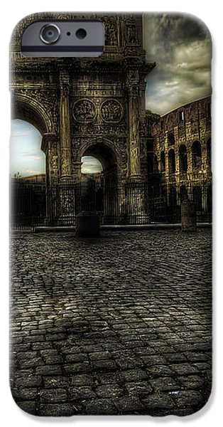 One Evening in Rome iPhone Case by Erik Brede