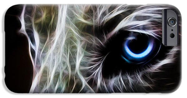 Canine Digital iPhone Cases - One Eye iPhone Case by Aged Pixel