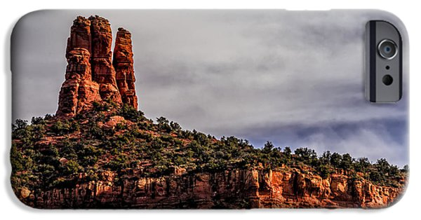 Sedona iPhone Cases - One Finger Shy iPhone Case by Mark Myhaver