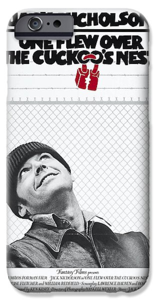 Crime Drama Movie iPhone Cases - One Flew Over the Cuckoos Nest iPhone Case by Nomad Art And  Design