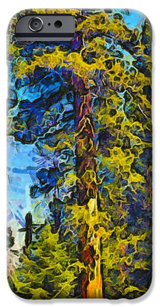 Tree Roots iPhone Cases - One Giant Abstract Sequoia iPhone Case by Barbara Snyder