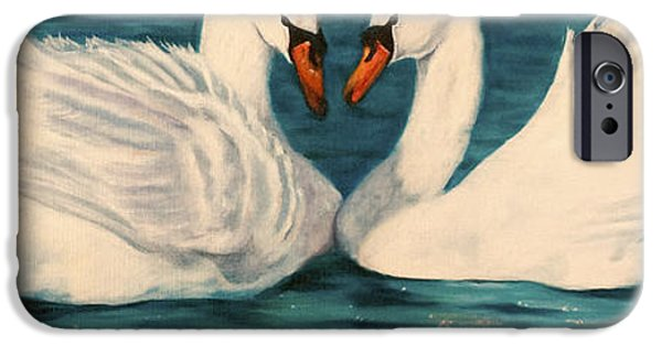 Swans... iPhone Cases - One Heart iPhone Case by Jeanette Sthamann