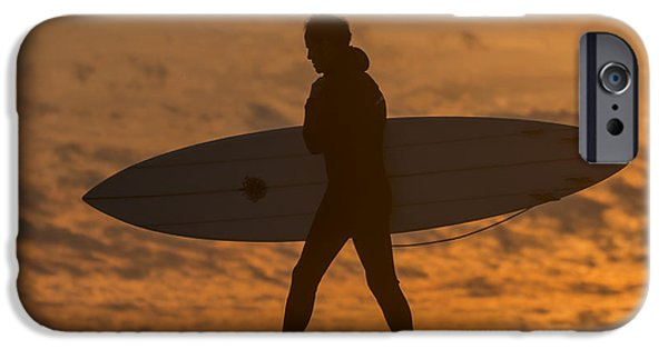 Steamer Lane iPhone Cases - One Last Wave iPhone Case by Bruce Frye