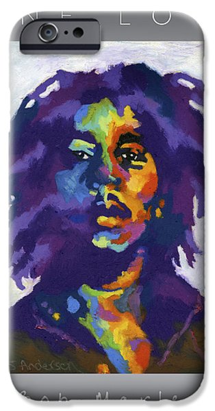 Jamaican Paintings iPhone Cases - One Love iPhone Case by Stephen Anderson