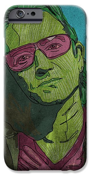 Bono Paintings iPhone Cases - One iPhone Case by Mike Brennan