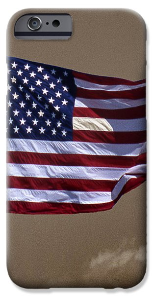 Old Glory iPhone Cases - One Nation iPhone Case by Skip Willits
