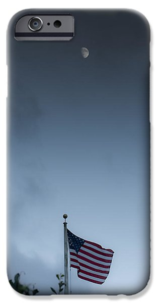 Symbology iPhone Cases - One Nation Under God iPhone Case by Jim Tobin