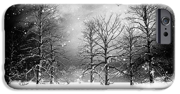 Winter Storm iPhone Cases - One Night In November iPhone Case by Bob Orsillo