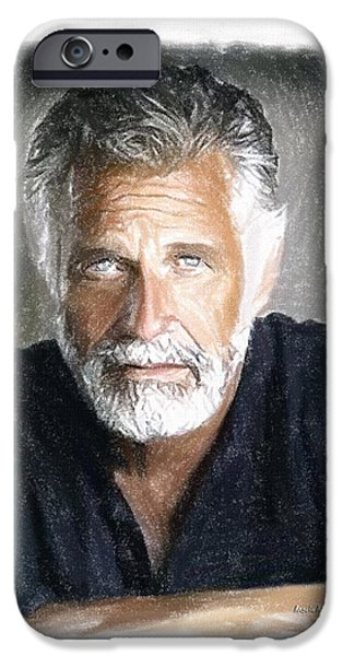 Gray Hair iPhone Cases - One of the Most Interesting Man in the World iPhone Case by Angela A Stanton