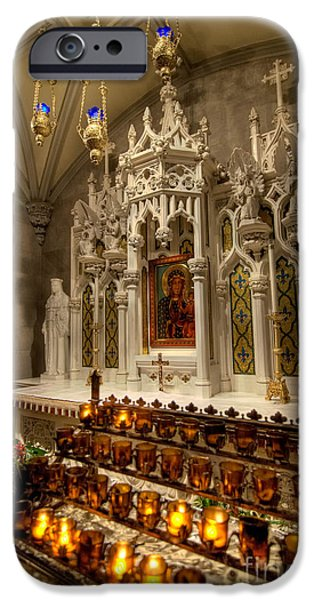 One of the Twelve Stations of the Cross in St Patricks Cathedr iPhone Case by Amy Cicconi