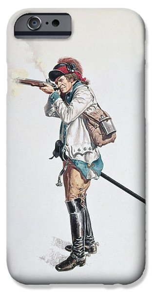 18th iPhone Cases - One Of Washingtons 3rd Continental Dragoons Wc On Paper iPhone Case by American School