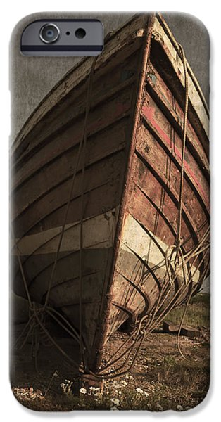 Strange iPhone Cases - One Proud Boat iPhone Case by Svetlana Sewell