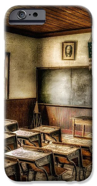One Room School iPhone Case by Lois Bryan