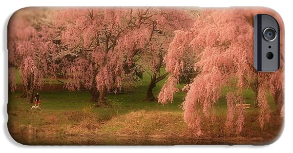 Tree Art Print iPhone Cases - One Spring Day - Holmdel Park iPhone Case by Angie Tirado