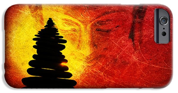 Buddhist iPhone Cases - One Stlll Moment iPhone Case by Tim Gainey