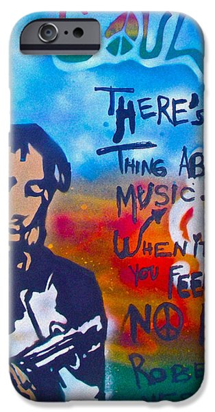 First Amendment Paintings iPhone Cases - One Thing About Music iPhone Case by Tony B Conscious