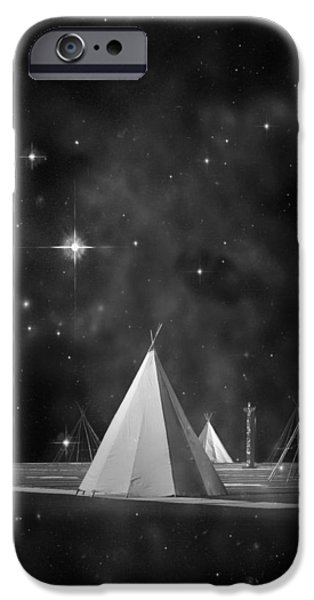 Star Of Bethlehem iPhone Cases - One Tribe bw iPhone Case by Laura  Fasulo