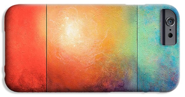 Abstract On Canvas Paintings iPhone Cases - One Verse iPhone Case by Jaison Cianelli
