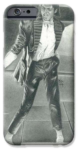 Mj Drawings iPhone Cases - One White Step iPhone Case by Antonio Thompson