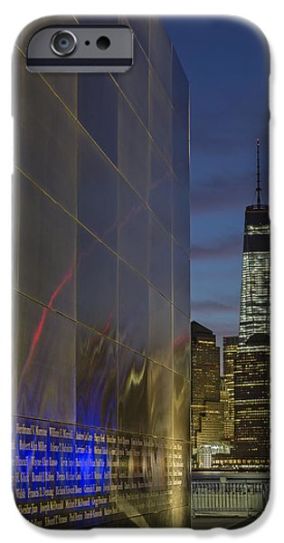 Freedom iPhone Cases - One World Trade Center At Dawn iPhone Case by Susan Candelario