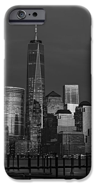 City Scape iPhone Cases - One World Trade Center At Twilight iPhone Case by Susan Candelario