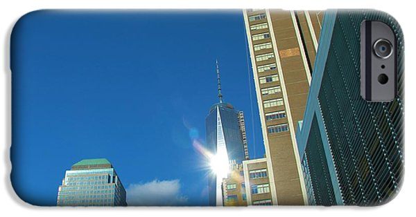 Twin Towers Nyc iPhone Cases - One World Trade Center iPhone Case by Dan Sproul