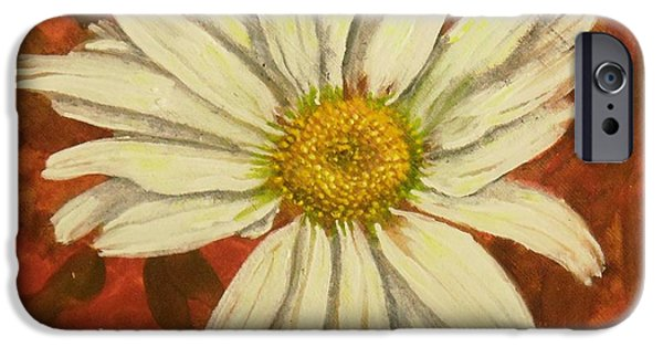 Yorktown iPhone Cases - One Yorktown Daisy iPhone Case by Nicole Angell