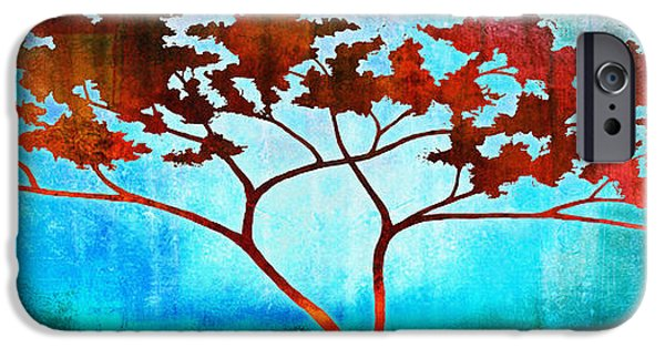 Tree Art Print Mixed Media iPhone Cases - Oneness iPhone Case by Jaison Cianelli