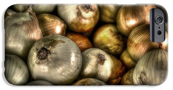 Vegetables iPhone Cases - Onions iPhone Case by David Morefield