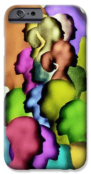Airbrush iPhone Cases - Only A Face In The Crowd iPhone Case by Ric Darrell