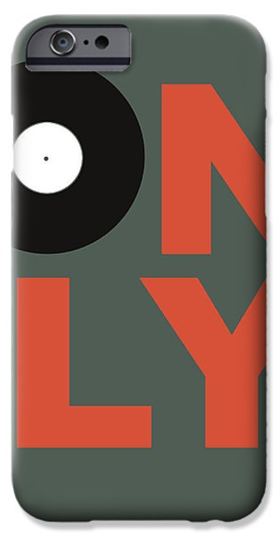 Music Box iPhone Cases - Only Vinyl Poster 2 iPhone Case by Naxart Studio