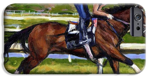 Horse Racing iPhone Cases - Onlyforyou iPhone Case by Molly Poole