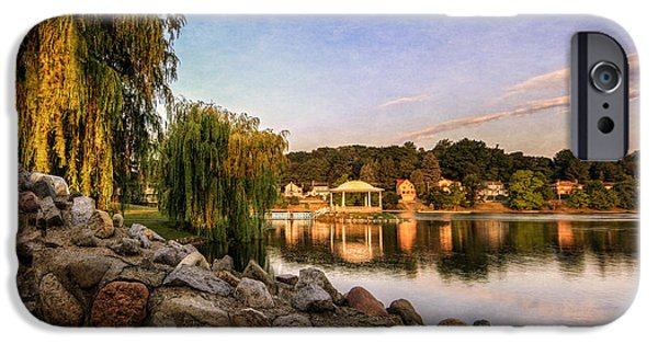 Willow Lake iPhone Cases - Onondaga Park Hiawatha Lake iPhone Case by Everet Regal